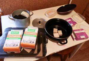 Как приготовить парафин в домашних условиях для лечебной процедуры?